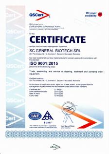 Certificat Statie de epurare